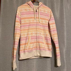 Mossimo Western Print ZIP Up Sweatshirt Medium